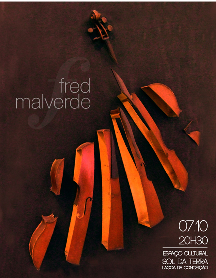 Flyer Show do violoncelista Fred Malverde - 2010